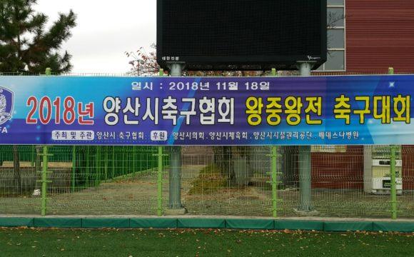 2018년 양산시축구협회 왕중왕전 축구대회 의료지원