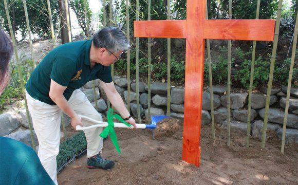 치유 숲길 십자가 설치 & 성화 게시