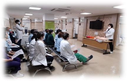 AED(자동제세동기) 작동법 교육