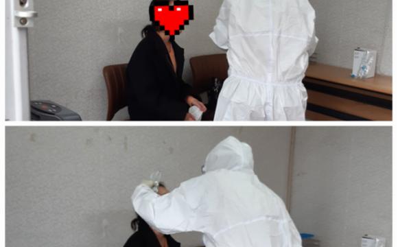 코로나19 검체 채취 지원